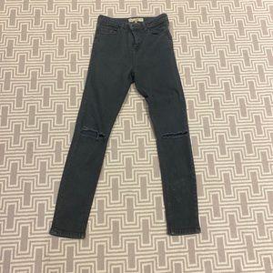 Topshop Moti Jamie Dark Grey Jeans
